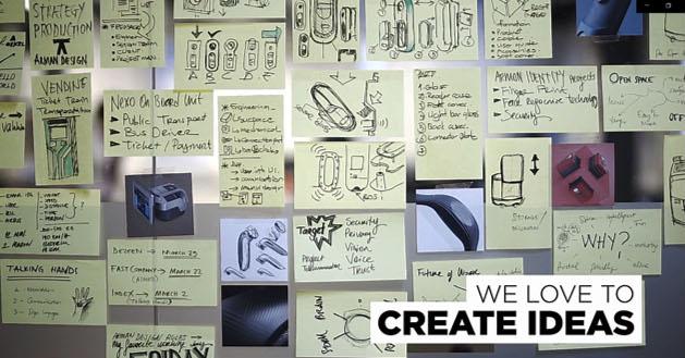 Tasarım stratejilerinde fikir üretimini gösteren görsel